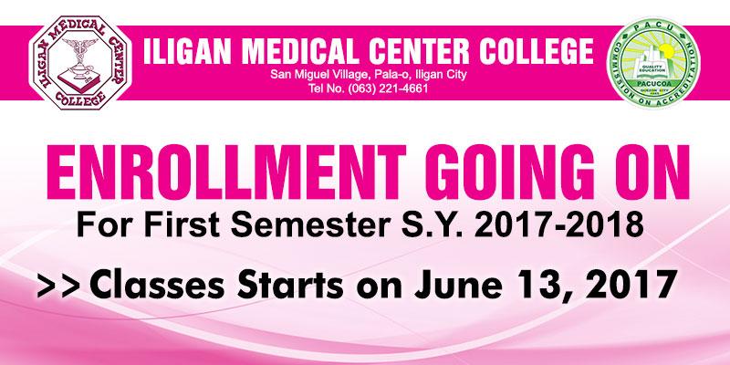 enrollment 1st semester 2017