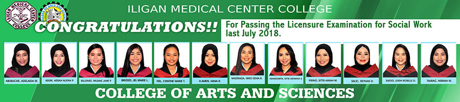 College of Arts and Sciences passers 2018