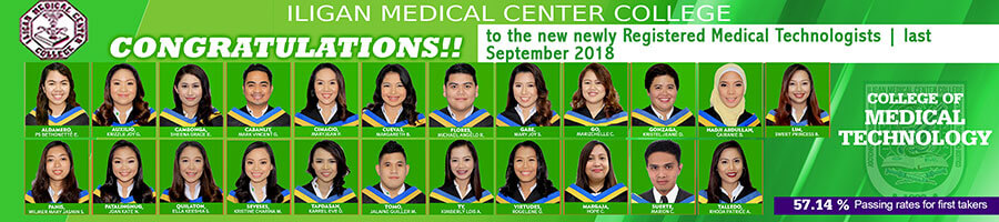 College of Medical Technologist Passers 2018