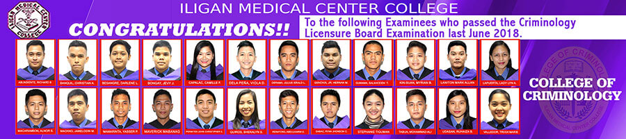 College of Criminology Passers 2018