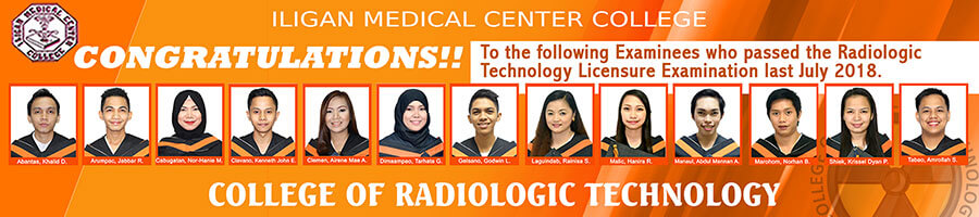 College of Radiologic Technologist Passers 2018