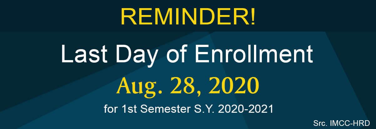 last day of enrolment 2020