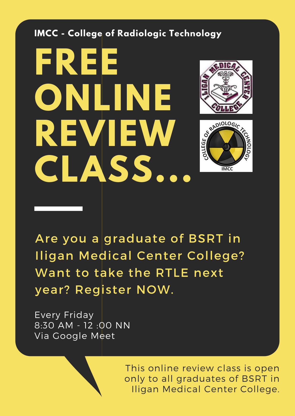 college of radiologic technology online review class