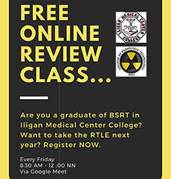 college of radiologic technoloy online review class